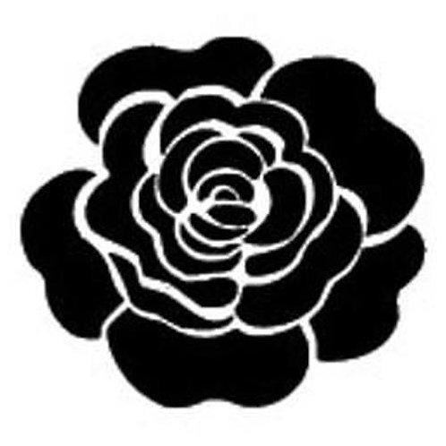 """Plaid Stencils 6x6 """"Single Rose"""""""