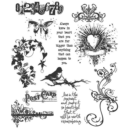 """""""Urban Chic"""" Tim Holtz Cling Stamps 7""""X8.5"""" by Stampers Anonymous"""