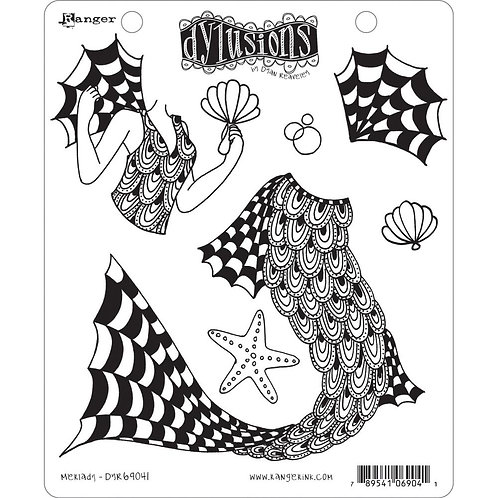 """Dyan Reaveley's Dylusions Cling Stamp  8.5""""X7""""Merlady"""""""