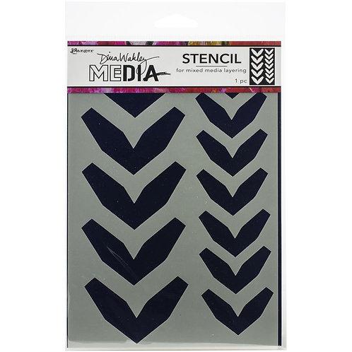 "Dina Wakley Media Alphabet Stencil &  Masks 9""X6"""
