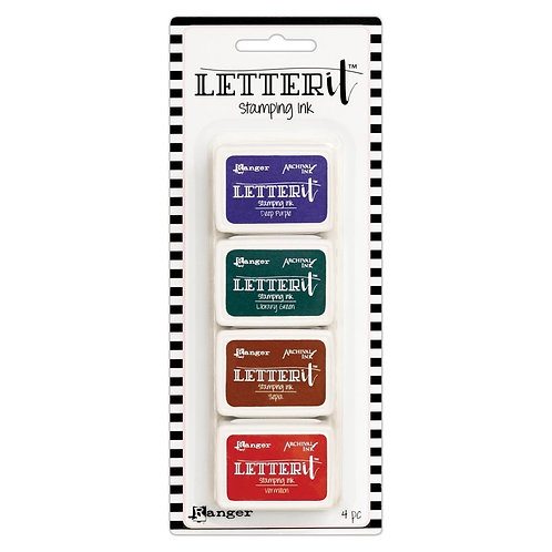 Letter It Archival Ink 4pc Mini Ink Pads by Ranger