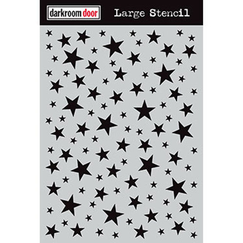 "Darkroom Door Large Stencil - 9x12 ""Starry Night"""