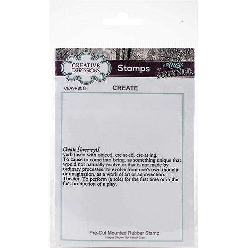 Create Creative Expressions Rubber Stamp By Andy Skinner