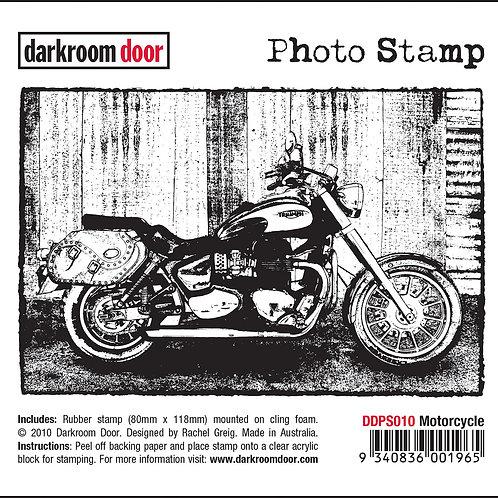 """Darkroom Door - """"Motorcycle"""" Photo Rubber Stamp"""