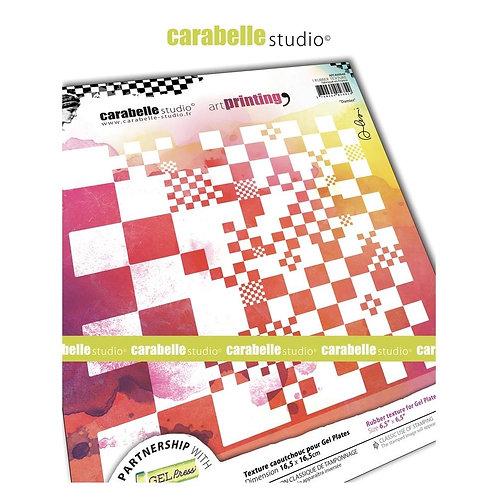 "Carabelle Studio Art Printing Rubber Texture Plate ""Damier"""