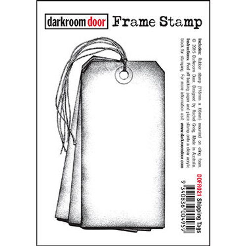 """Darkroom Door - """"Shipping Tags"""" Frame Rubber Stamp"""