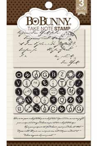 """BoBunny Clear Stamps 4""""X6"""" """"Take Note"""""""