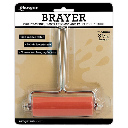 """Ranger Soft Rubber Brayer - Medium 3 5/16"""""""