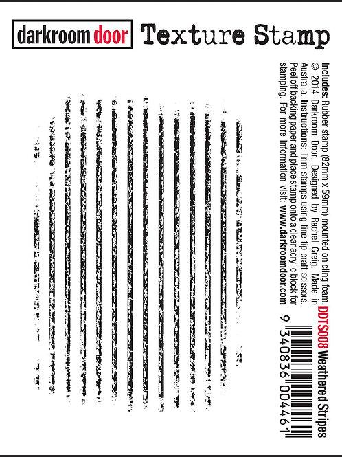 """Darkroom Door - """"Weathered Stripes"""" Texture Rubber Stamp"""