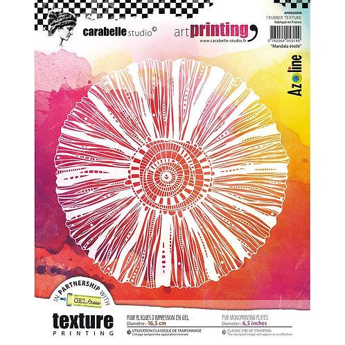 """Mandala eroile"" Carabelle Studio Art Printing Rubber Texture Plate"