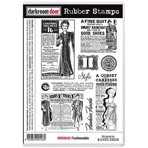 """Darkroom Door - """"Fashionable"""" Cling Rubber Stamp"""