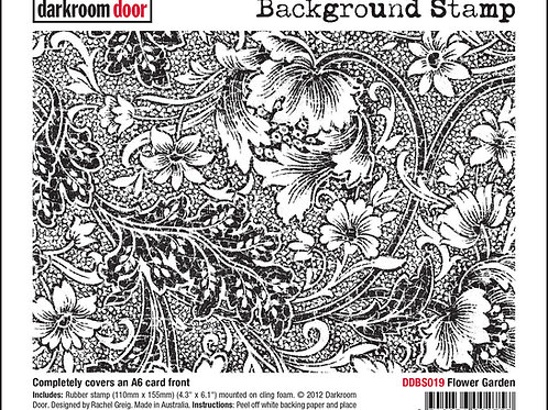 "Darkroom Door - ""Flower Garden""   Background Rubber Stamp"