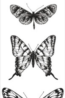 """Kaisercraft Clear Acrylic Stamp """"Texture - Butterflies"""""""