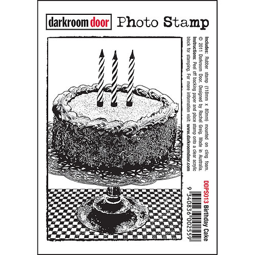 """Birthday Cake"" - Darkroom Door Photo Rubber Stamp"