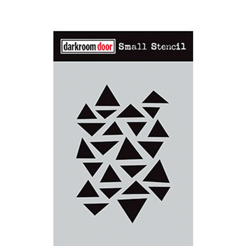 "Darkroom Door Stencil - ""Arty Triangles""   4.5"" x 6"""