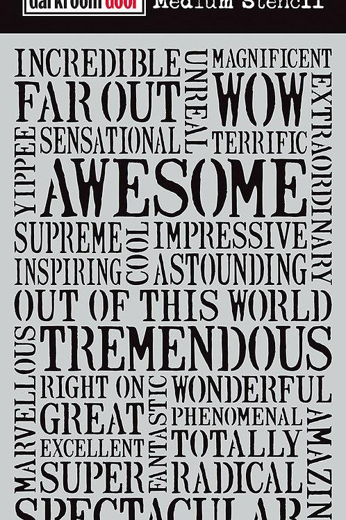 "Darkroom Door Large Stencil - 9x6 ""Awesome"""