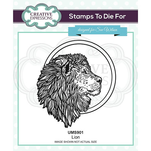 Creative Expressions Rubber Lion Stamp By Sue Wilson