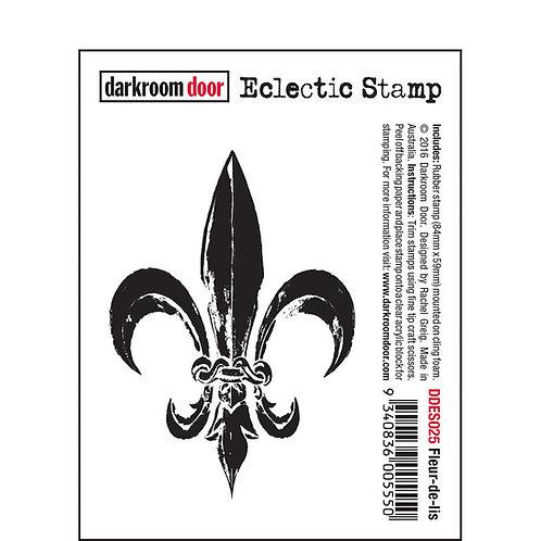 Fleur-de-lis -Darkroom Door Eclectic Rubber Stamp