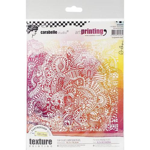 """La grande roue"" Carabelle Studio Art Printing Rubber Texture Plate"