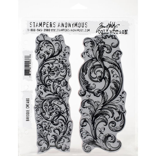 """Baroque"" Tim Holtz Cling Stamps 7""X8.5"" by Stampers Anonymous"