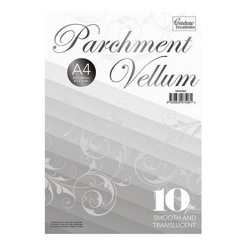 Parchment Vellum- A4 - (110gsm / 10pc) - 210 x 297mm