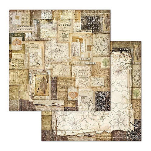 "Natura Patchwork Stamperia Double Sided 12"" x12"" Paper   1"