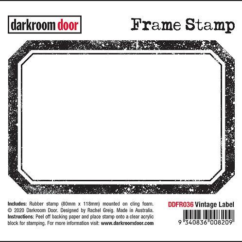 """Darkroom Door Frame Stamp - """"Vintage Label"""""""