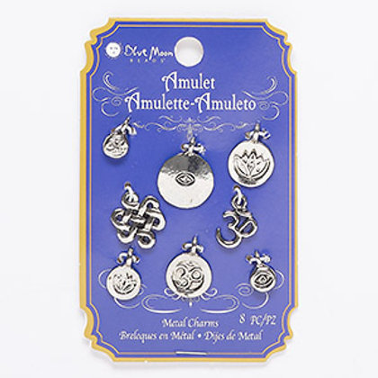 Silver Pewter  Charms 8pcs