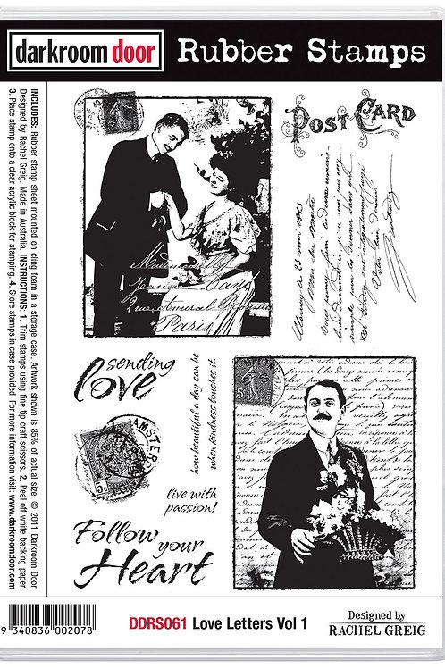 """Darkroom Door - """"Love Letters Vol1""""  Cling Rubber Stamp"""
