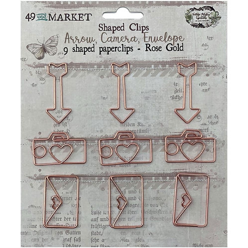 49 And Market Foundations Paper Clips 9/Pkg Rose Gold