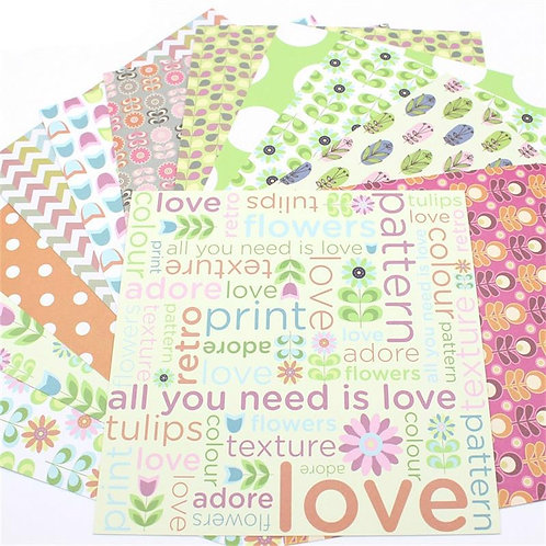 "6x6 inch ""Mixed Pattern""Design Paper Pack"