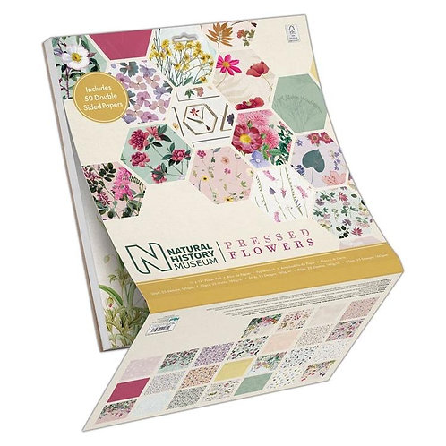 """12 x 12"""" Paper Pad (50pk) - Double Sided Paper Pressed Flowers"""