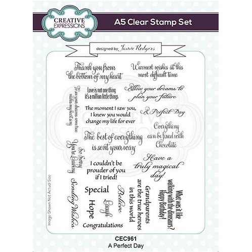 A Perfect Day Creative Expressions A5 Stamp Set