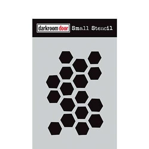"""Darkroom Door Stencil - """"Arty Hexagons""""   4.5"""" x 6"""""""