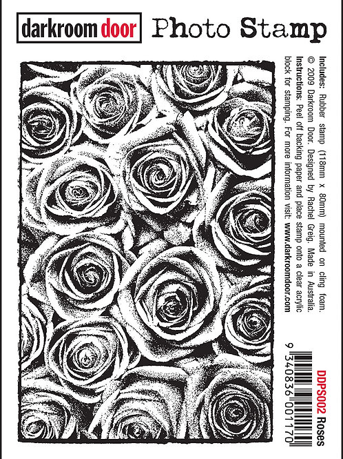 "Darkroom Door - ""Roses"" Photo Rubber Stamp"