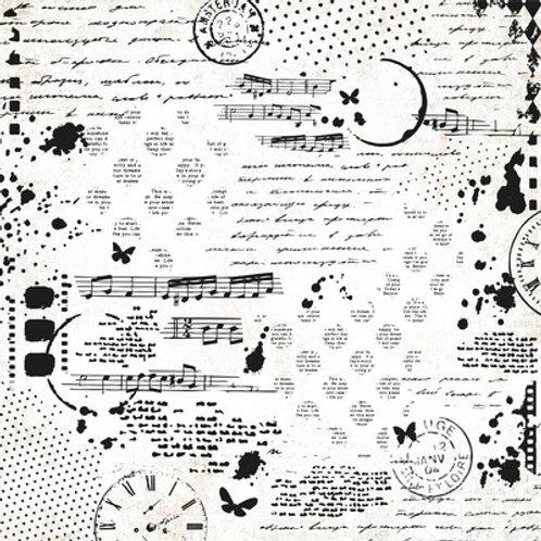 "Kaisercraft 12x12 Single Scrap Studio 12"" Gloss Varn- Collage ""Scrap Studio"""