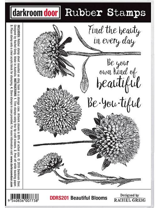 """Darkroom Door - """"Beautiful Blooms""""  Cling Rubber Stamp"""