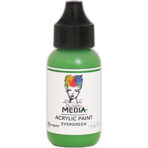 """Dina Wakley Media Acrylic Paint 1oz """"Evergreen"""""""