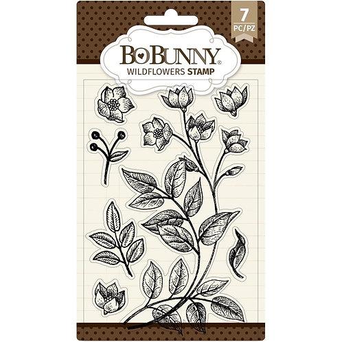 "BoBunny Clear Stamps 4""X6"" Wildflowers"