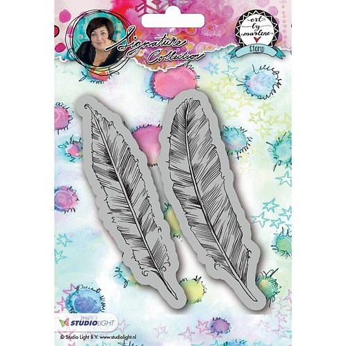 Art By Marlene Cling Stamp Feathers