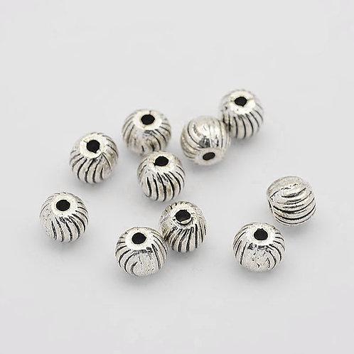 6MM Tibetan Style Allow Beads 50pcs
