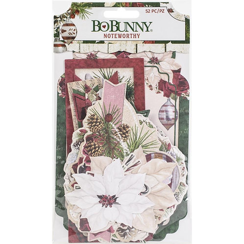 BoBunny - Joyful Christmas Noteworthy Die-Cuts 59/Pkg