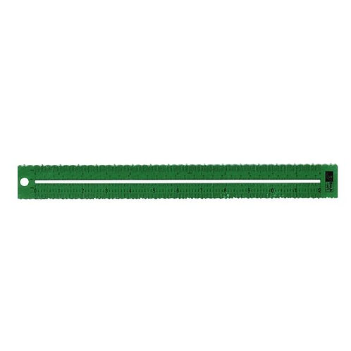Birch Decorative Paper Tearing Ruler 300MM - 7 Scollop & Deckle Effects