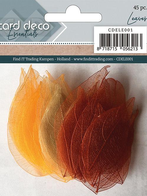 Card Deco Essentials Leaves 45pcs