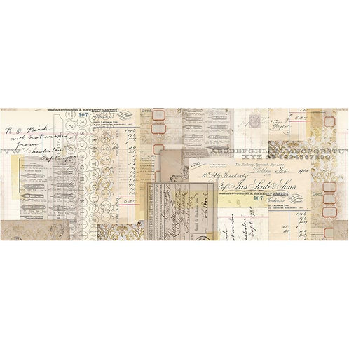 """Tim Holtz Typography Idea-Oligy Collage Paper 6"""" x 6 yards"""