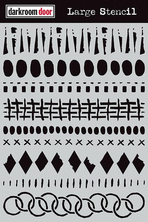 "Darkroom Door Large Stencil - 9x12 ""Grunge Borders"""