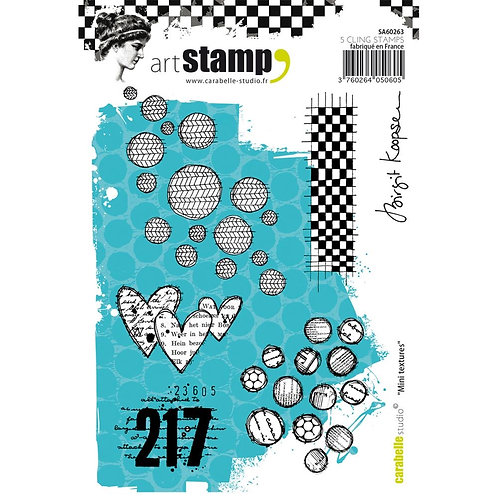 "Carabelle Studio Cling Stamp A6 ""Mini Textures"""