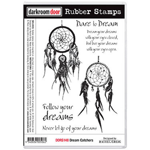 "Darkroom Door - ""Dream Catcher""  Rubber Stamp"