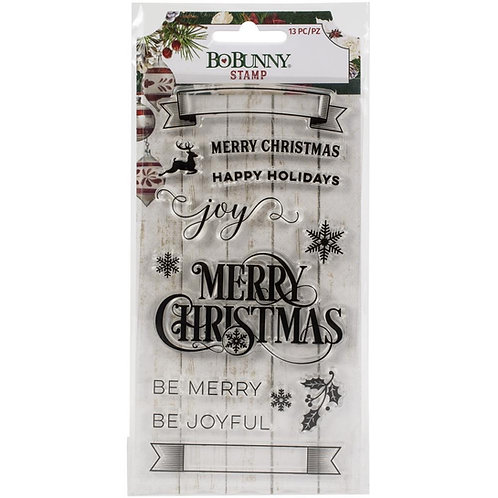 "BoBunny Clear Stamps 4""X6"" ""Joyful Christmas"""