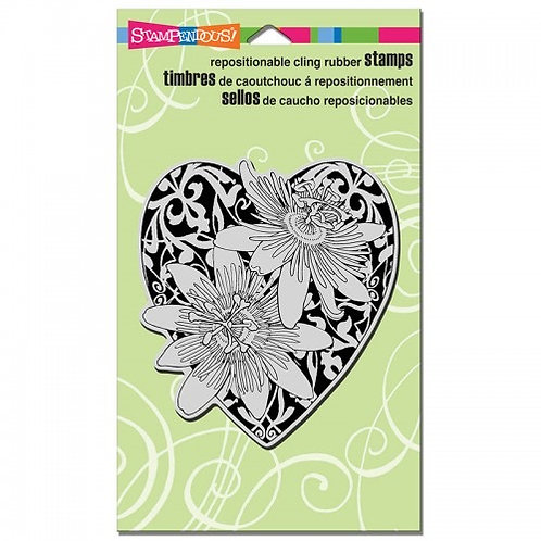 """""""Passion Heart""""  Stampendous Cling Mount Rubber Stamps"""